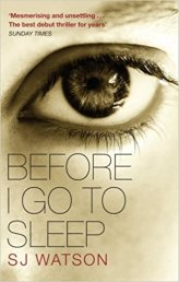Before I Go To Sleep SJ Watson (amazon)