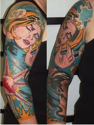 comic tattoo