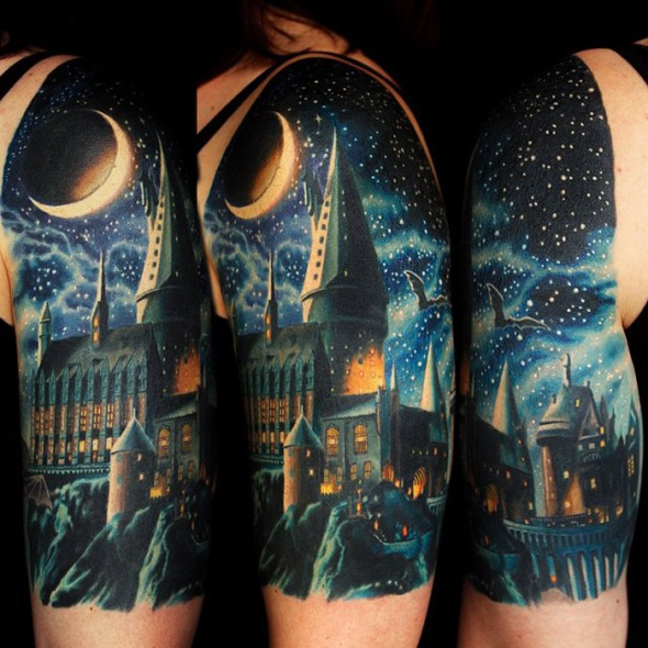 Hogwarts-School-Tattoo 3